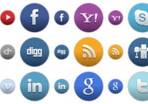Colored Round Social Icons 1