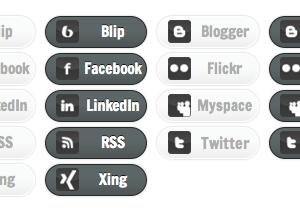 Monochrome Social Media
