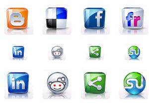 HD Social Media Buttons