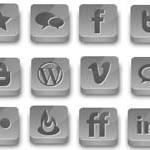 21 Grey Social Icons