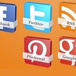 6 3D Social Icons with Names