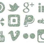 14 Glittery Social Media Free Icons in 4 Colors