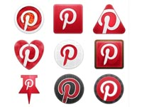 Free icons for Pinterest designed