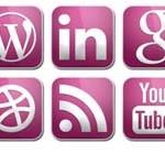Free Icons: 15 Glossy Purple Social Icons