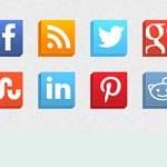 Free Icons: 16 Isometric Social Icons