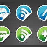 Free Icons: 15 Vibrant Sticker Icons