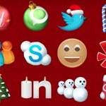 Free Icons: 22 Christmas Social Icons