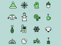 Free Icons with a winter