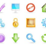Free Icons: 20 Glossy Transparent Web Icons