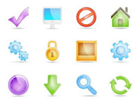 Free Icons Glossy Transparent Web