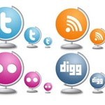 Free Icons: 8 Globe Style Social Icons