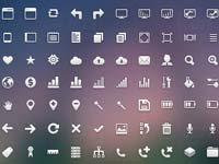 This free icons set includes