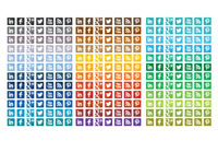 Free Icons for Facebook Twitter