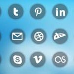 Free Icons: 21 Clear Round Social Icons