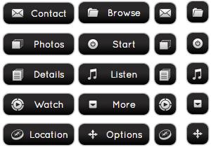 Black Chrome Buttons