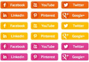 Sunset Social Buttons