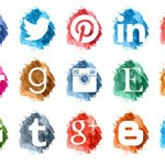 Free Icons: 15 Bright Paint Social Icons