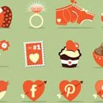 Free Icons: 16 Saint Valentine Icons