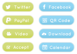Glow Social Buttons