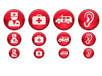 Ruby Medical Icons set contains