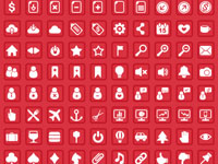Free vector icon set containing