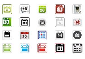 Calendar Icon Buttons