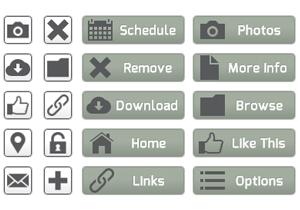 Neutral Web Buttons