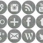 Free Icons: 16 Round Silver Social Icons