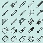 Free Icons: 40 Outline Design Icons