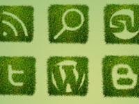 The Grass Textured Social Icon