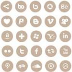 Free Icons: 74 Round Social Media Icons