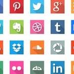 Free Icons: 40 Social Media Flat Icons