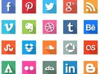 social media free icons inspired