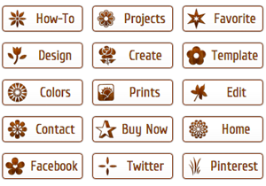 Wooden Icon Buttons
