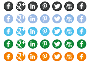 Round Social Icon Buttons
