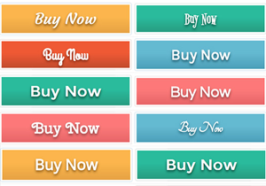 Colorful Fall Font Buttons
