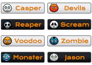 Halloween Character Buttons