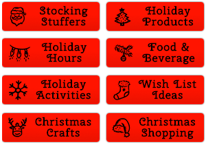 Christmas Shopping Buttons