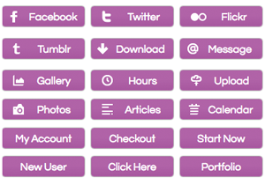 Radiant Orchid Buttons