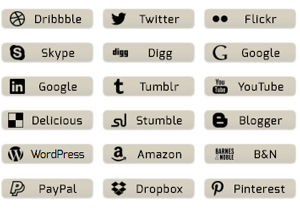 Oyster Gray Social Buttons