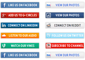 10 Social Media Icon Buttons