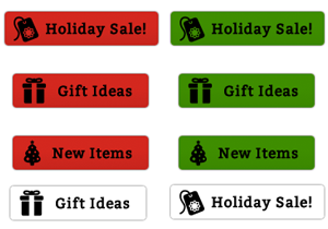 Holiday Sale Buttons