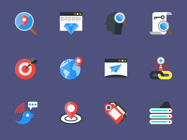 Free SEO Flat Icons in