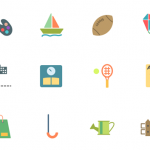 52 Flat Activities Icons