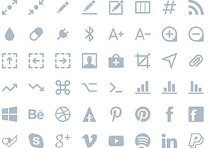 Hand crafted scalable vector icons