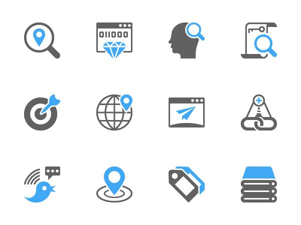 free SEO Glyph Icons Free