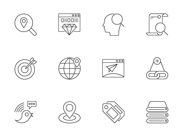 free SEO Outline Icons Free