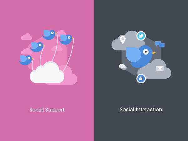Free social media flat icons