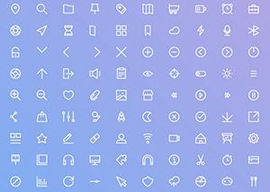 Basic UI Icon set designed