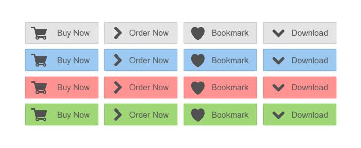 Flat E-Commerce Buttons